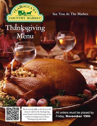 LaRocca's Thanksgiving Menu 2021